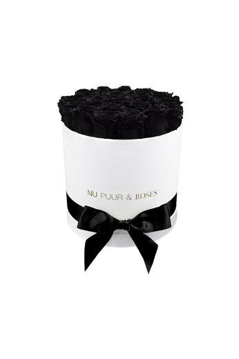 Medium - Roses Éternel Noir - Boîte Blanche