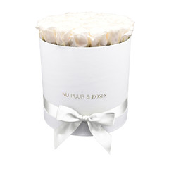 Large - White Endless Roses - White Box