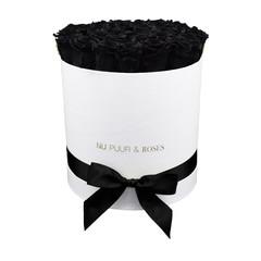 Large - Roses Éternel Noir - Boîte Blanche