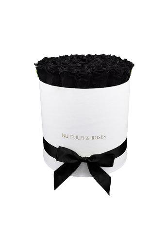 Large - Black Endless Roses - White Box