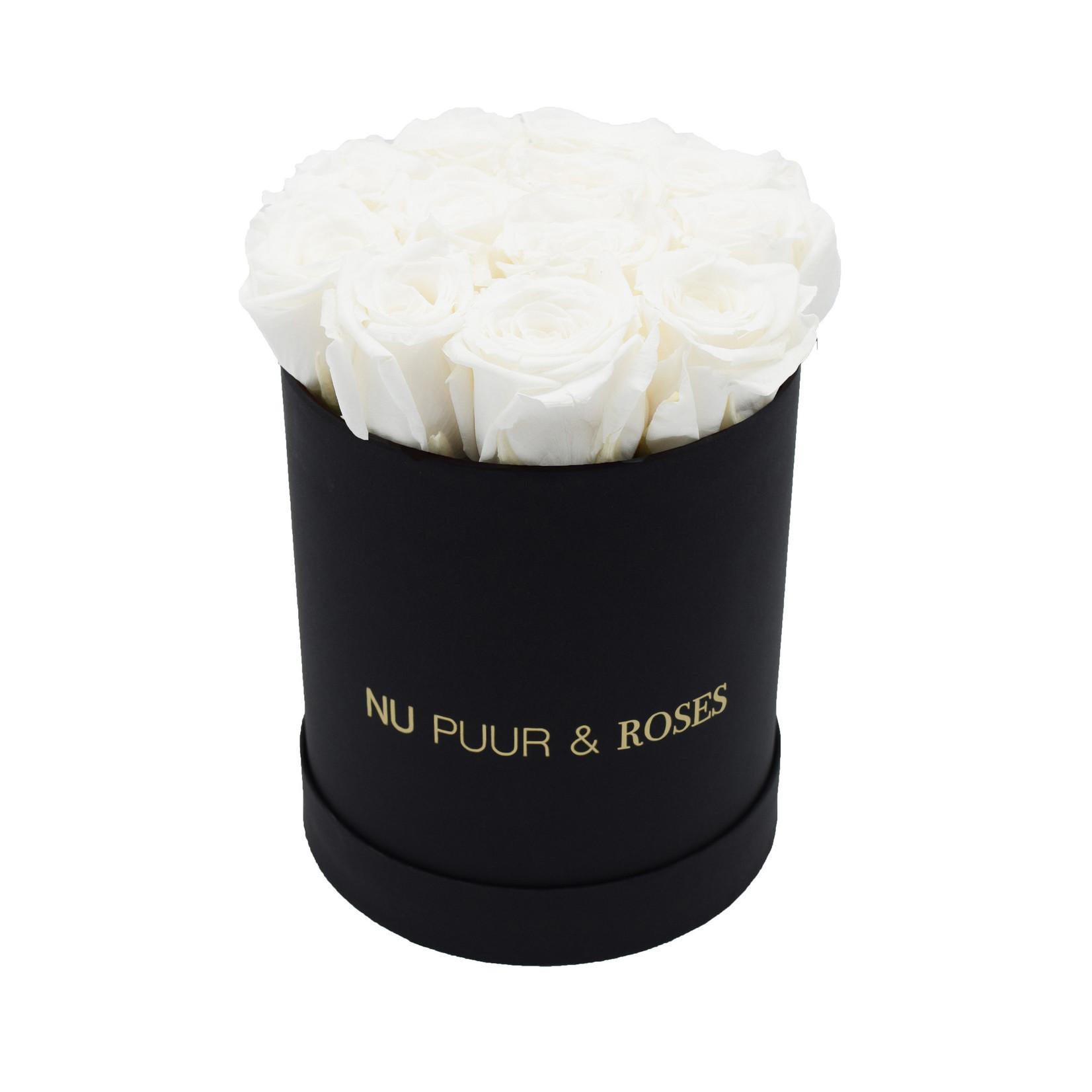 Small - White Endless Roses - Black Box