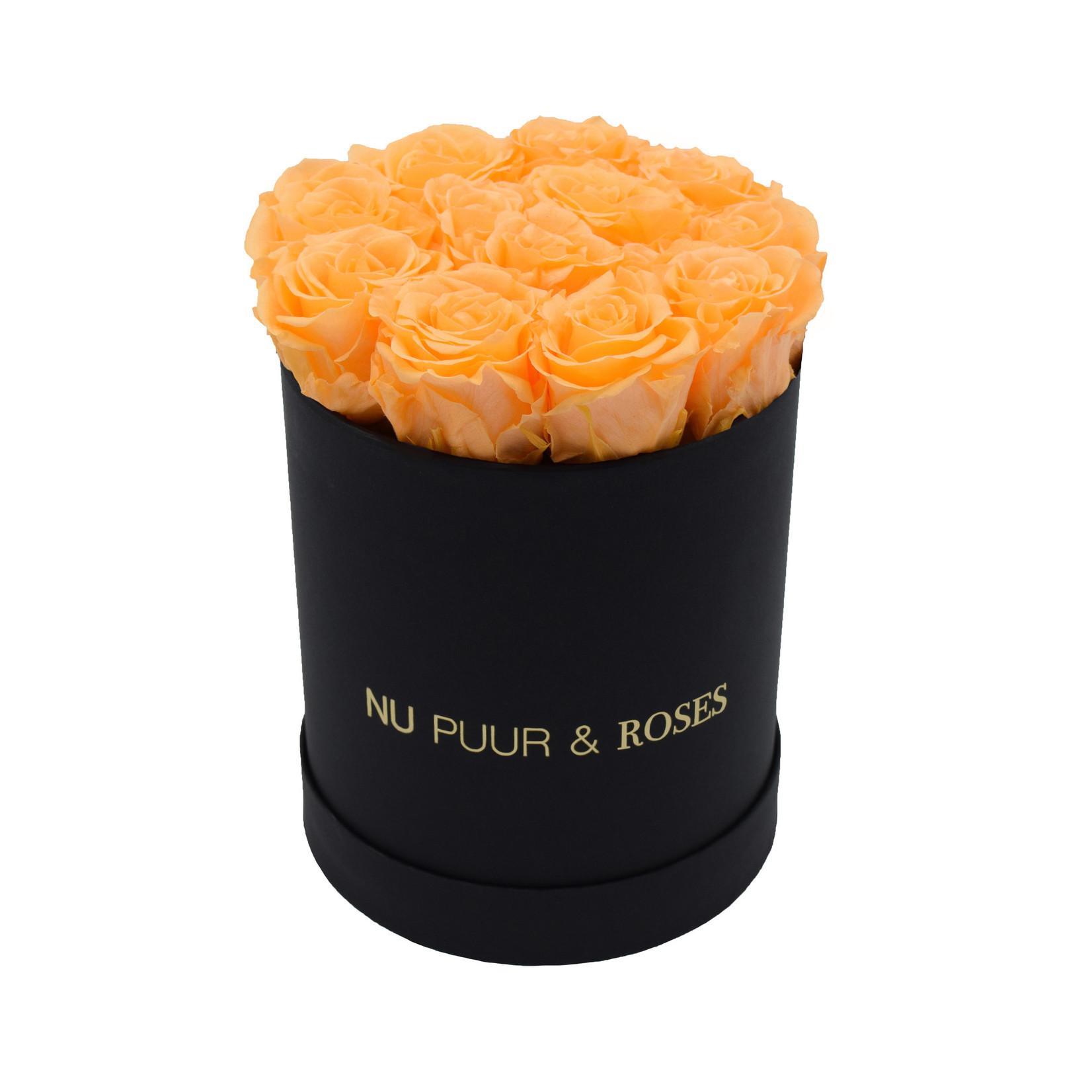 Small - Peach Endless Roses - Black Box