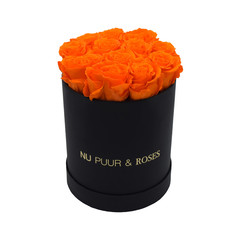Small - Orange Endless Roses - Black Box