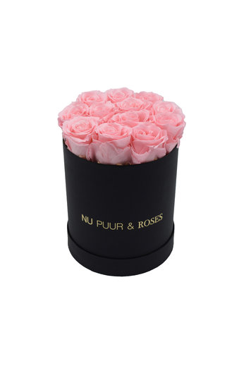 Small - Pink Endless Roses - Black Box