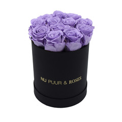 Small - Lilac Endless Roses - Black Box