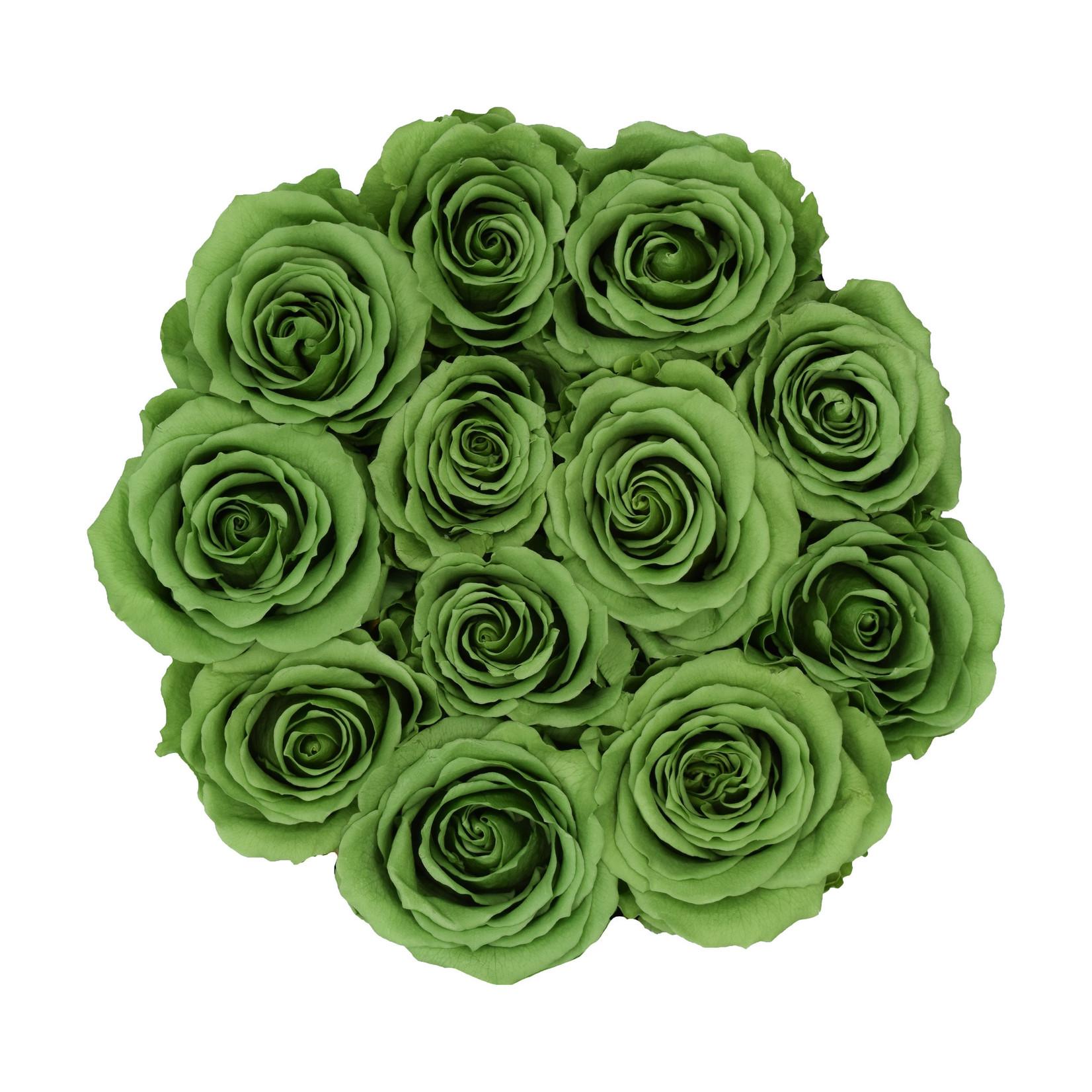 Small - Green Endless Roses - Black Box