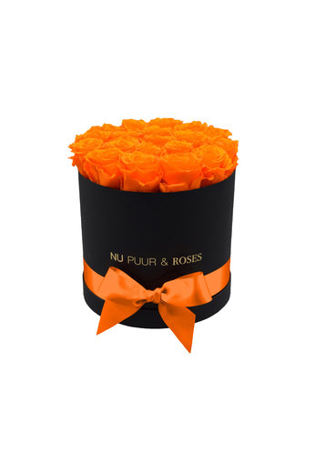Medium - Roses Éternel Orange - Boîte Noire