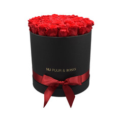 Large - Red Endless Roses - Blackl Box