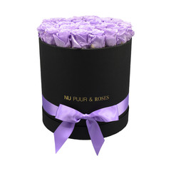 Large - Lilac Endless Roses - Black Box