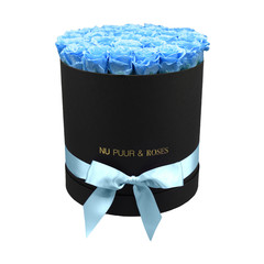 Large - Blue Endless Roses - Black Box
