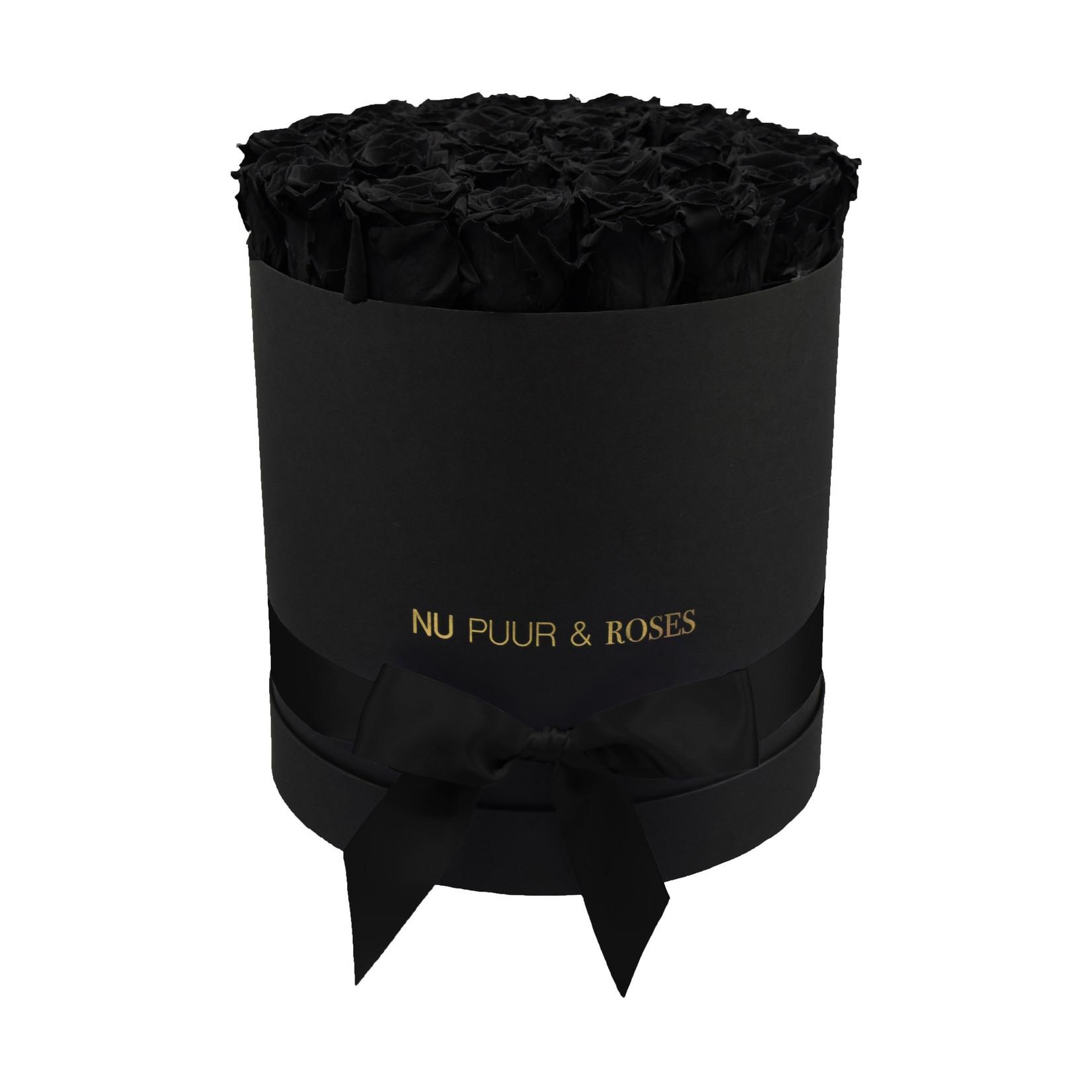 Large - Black Endless Roses - Black Box