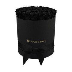 Large - Black Endless Roses - Black Box