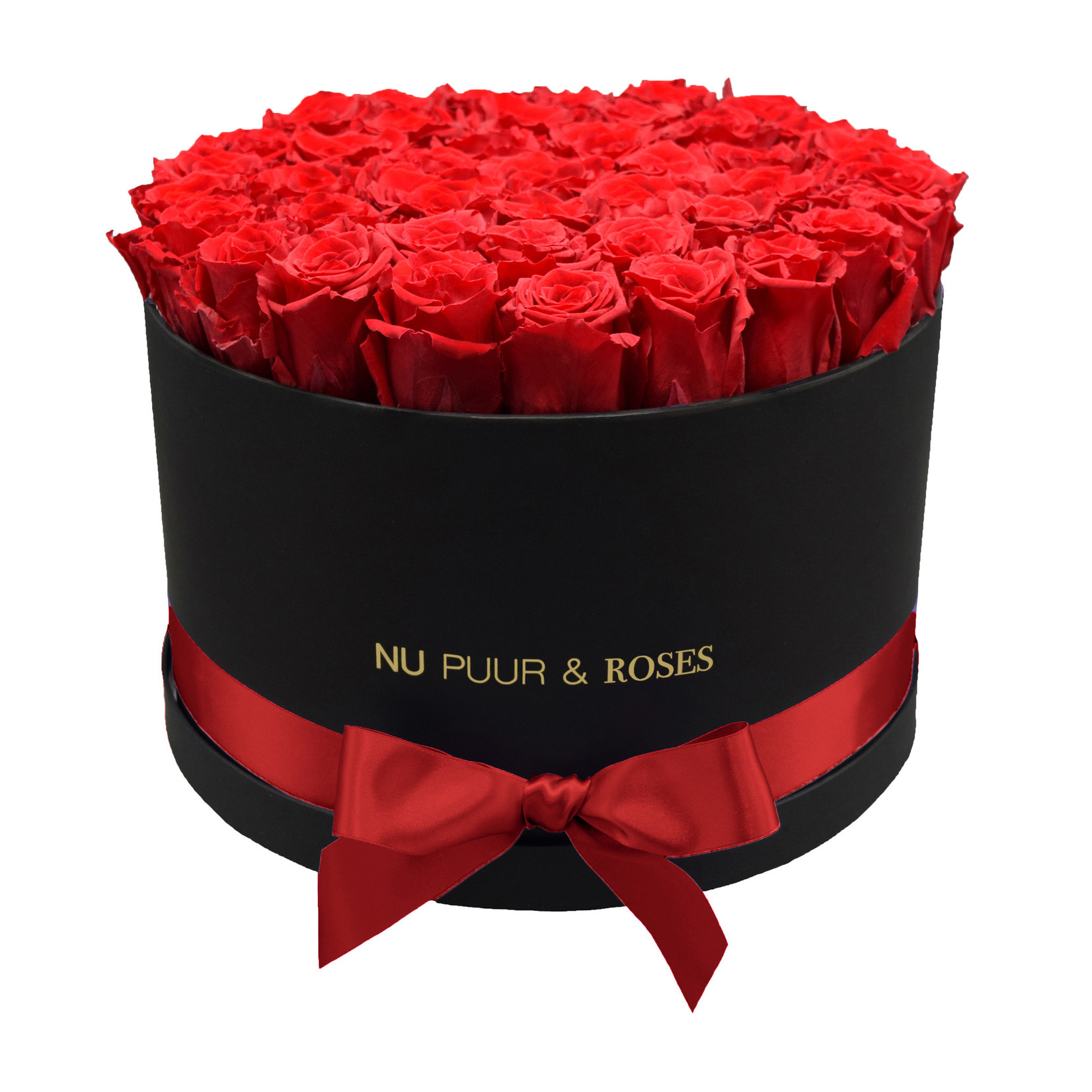 Extra Large - Red Endless Roses - Black Box