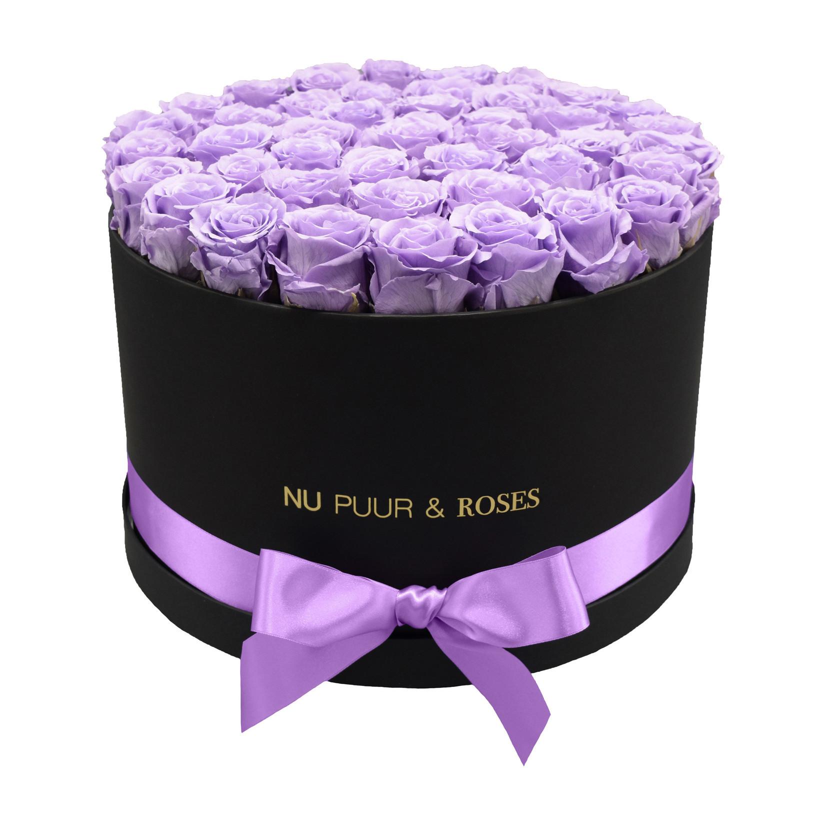 Extra Large - Lilac Endless Roses - Black Box