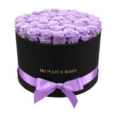 Extra Large - Lilac Endless Roses - Black Box