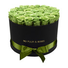Extra Large - Green Endless Roses - Black Box