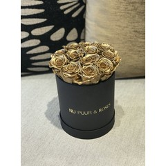 Small - Gold Endless Roses - Black Box
