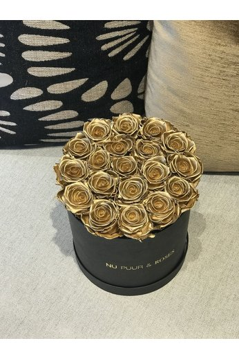 Medium - Gold Endless Roses - Black Box