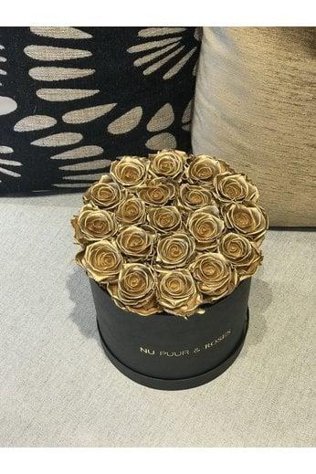 Medium - Gold Endless Roses - Black Box