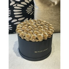 Extra Large - Gold Endless Roses - Black Box