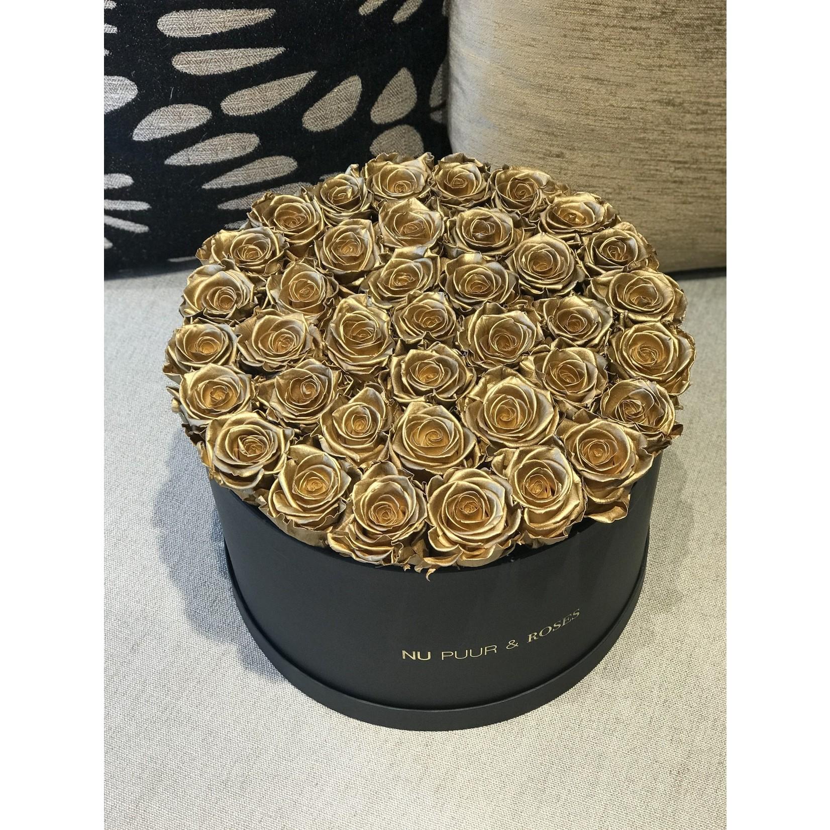 Extra Large - Gold Endless Roses - Black Box
