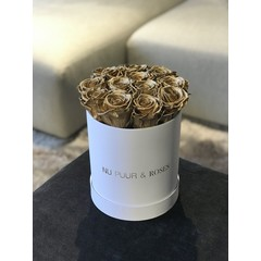 Mini - Gold Endless Roses - White Box