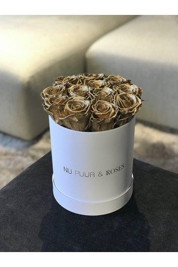 Mini - Roses Sans Fin Or - Boîte Blanche