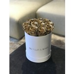 Small - Gold Endless Roses - White Box