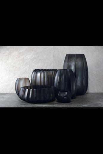 Guaxs Vase Manakara Round | Indigo / Smokegrey