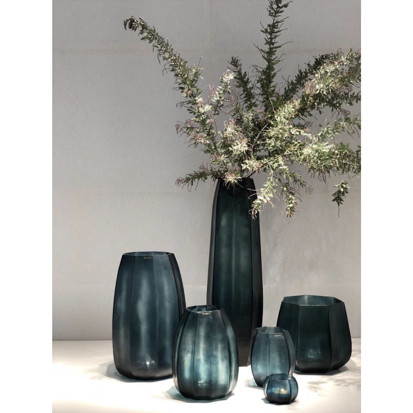Guaxs Vase Koonam Grand | Bleu océan / Indigo