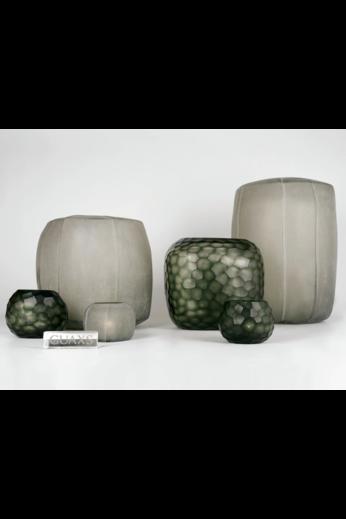 Guaxs Vase Somba L | Gris acier clair / Gris acier noir