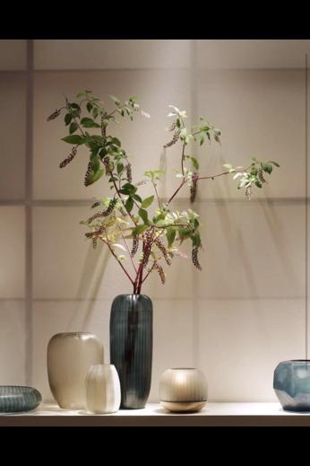 Guaxs Vase Gobi High | Bleu océan / Indigo