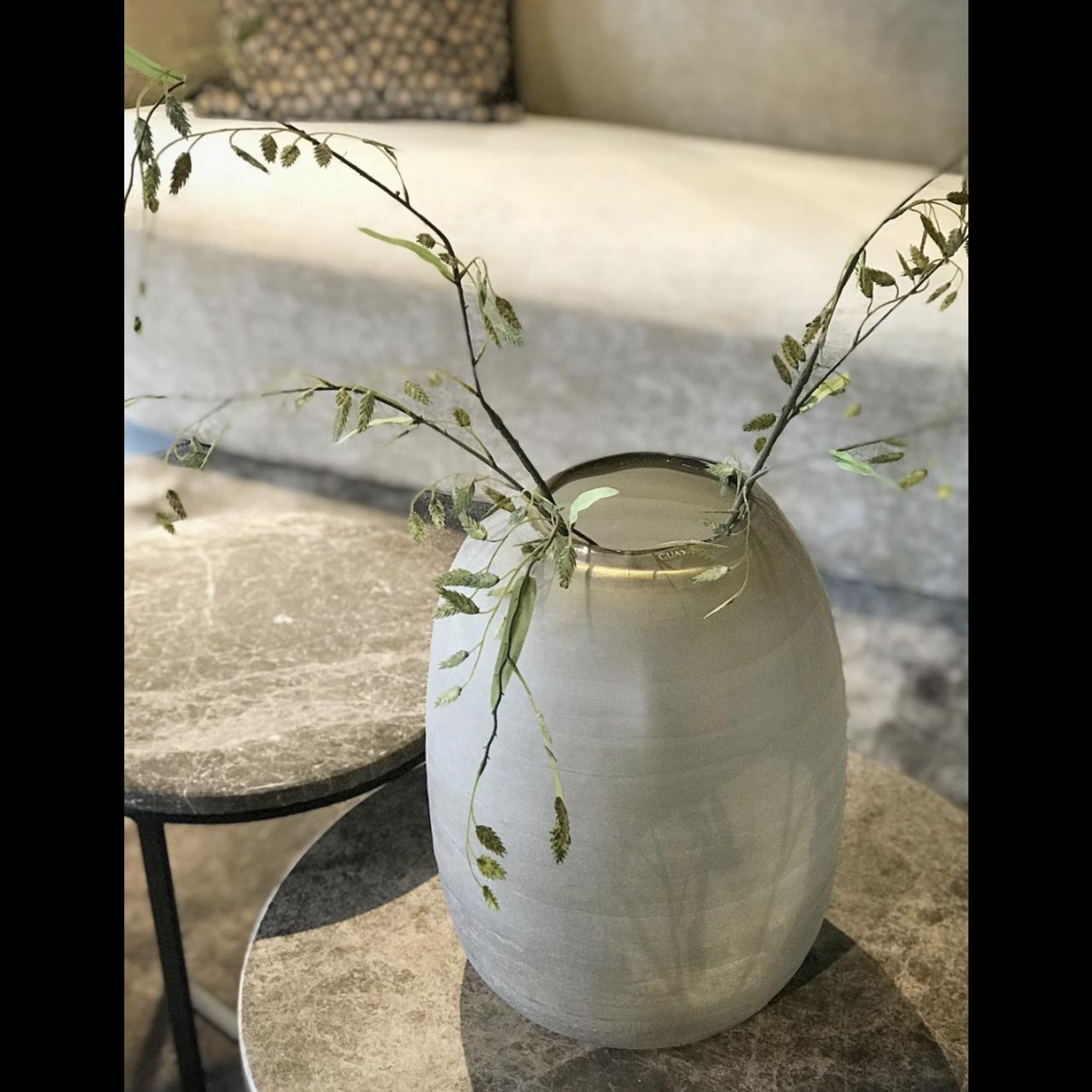 Guaxs Vase Ventre Énorme | gris fumée