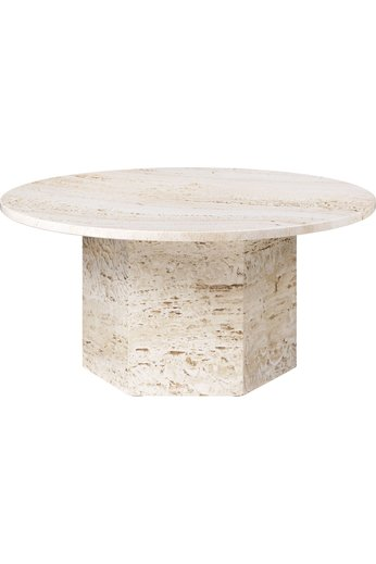 Epic Round Coffee Table Ø80 cm | White Travertine