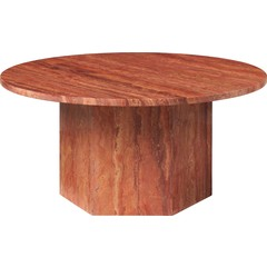 Table basse ronde épique Ø80 cm | Travertin rouge
