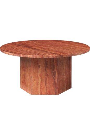 Table basse ronde épique Ø80 cm   Travertin rouge