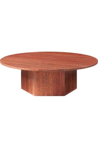 Table basse ronde épique Ø110 cm | Travertin rouge