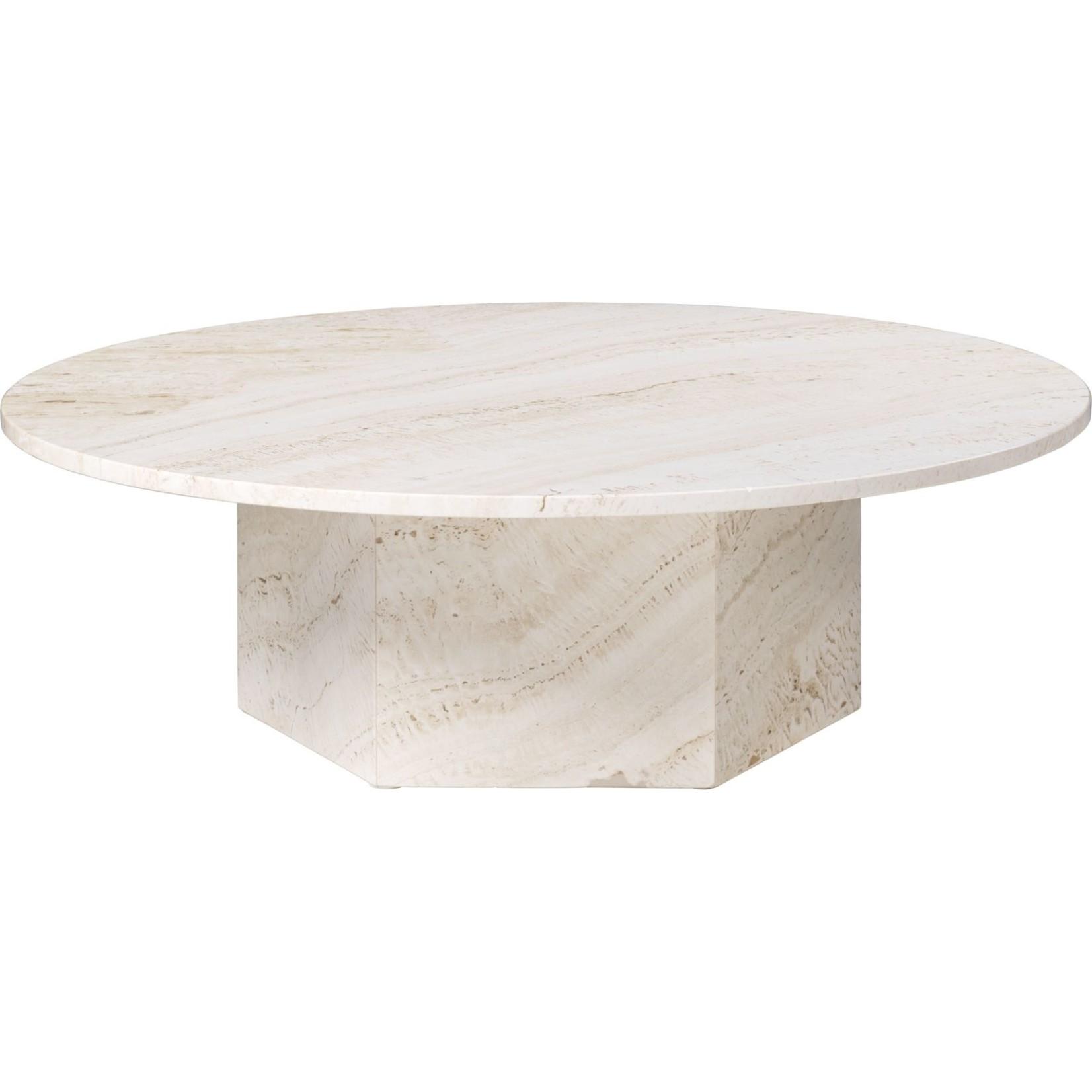 Gubi Epic Coffee Table Round Ø110 | White Travertine