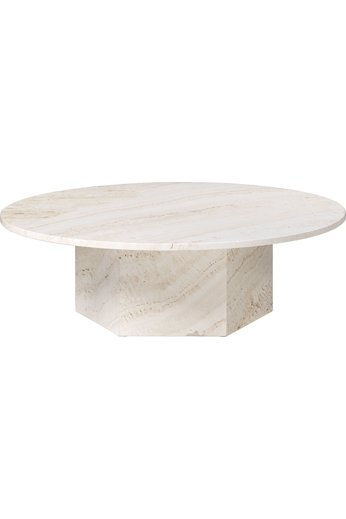 Epic Round Coffee Table Ø110 cm | White Travertine