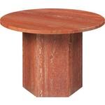 Gubi Epic Coffee Table Round Ø60   Red Travertine