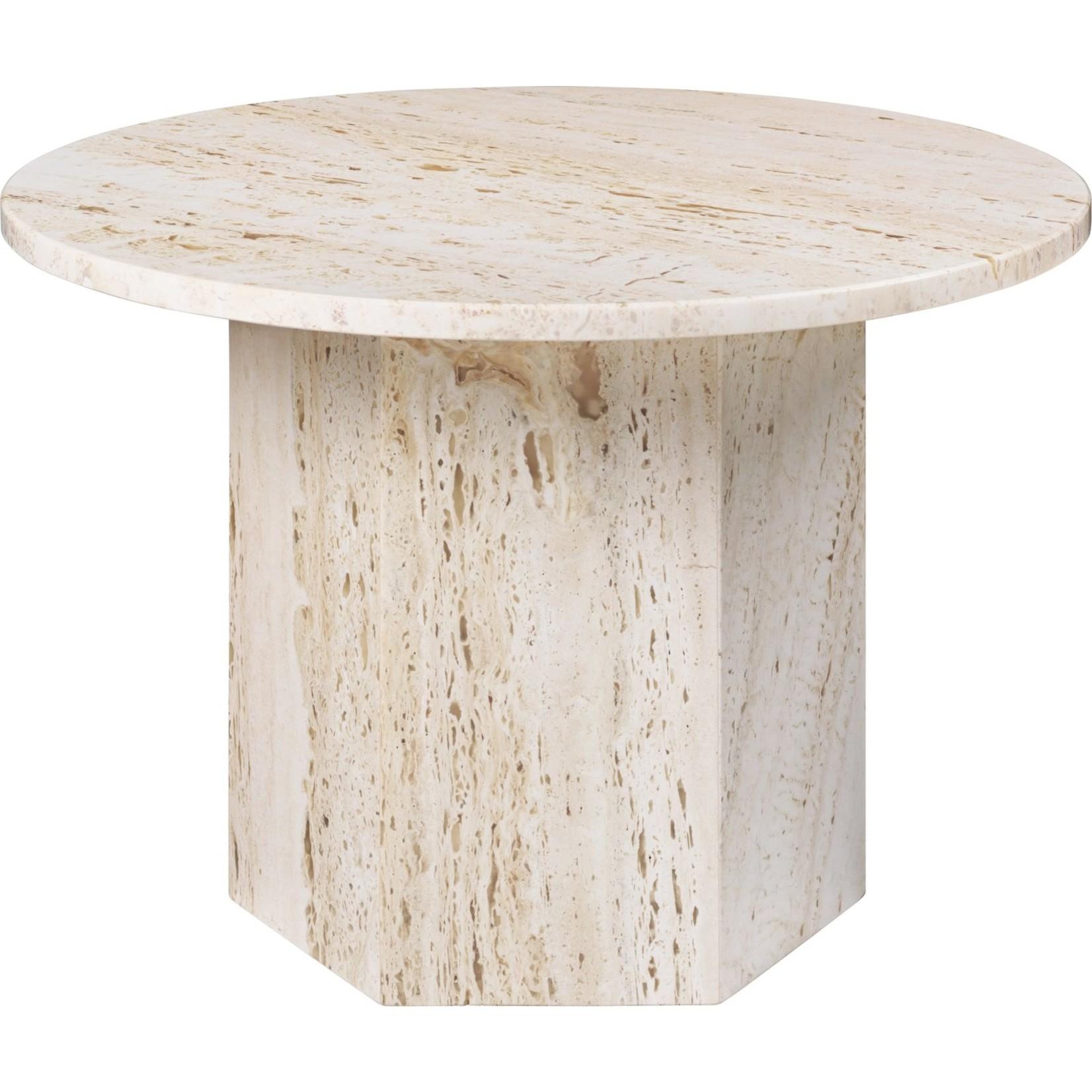 Gubi Epic Coffee Table Round Ø60 | White Travertine
