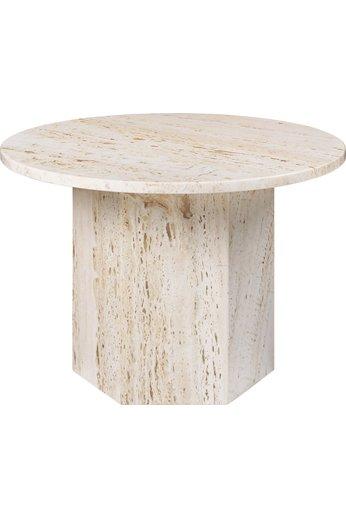 Epic Round Coffee Table Ø60 cm | White Travertine