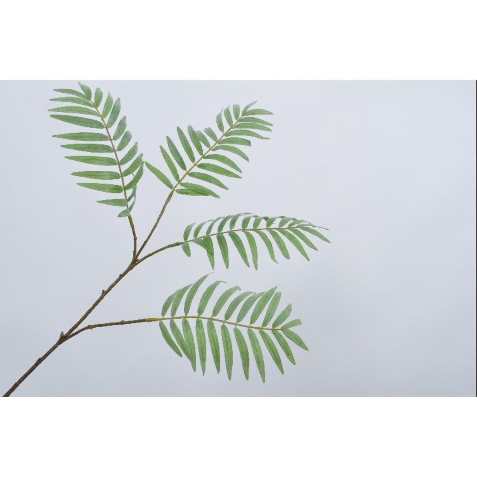 Silk-ka Bladtak palm groen 80 cm
