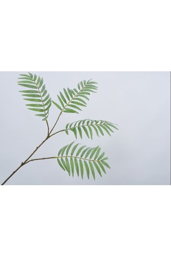 Silk-ka Rameau de feuille vert palmier 80 cm