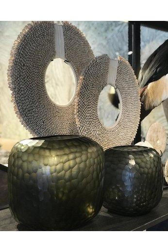 Guaxs Vase Somba M | Indigo / Gris fumé