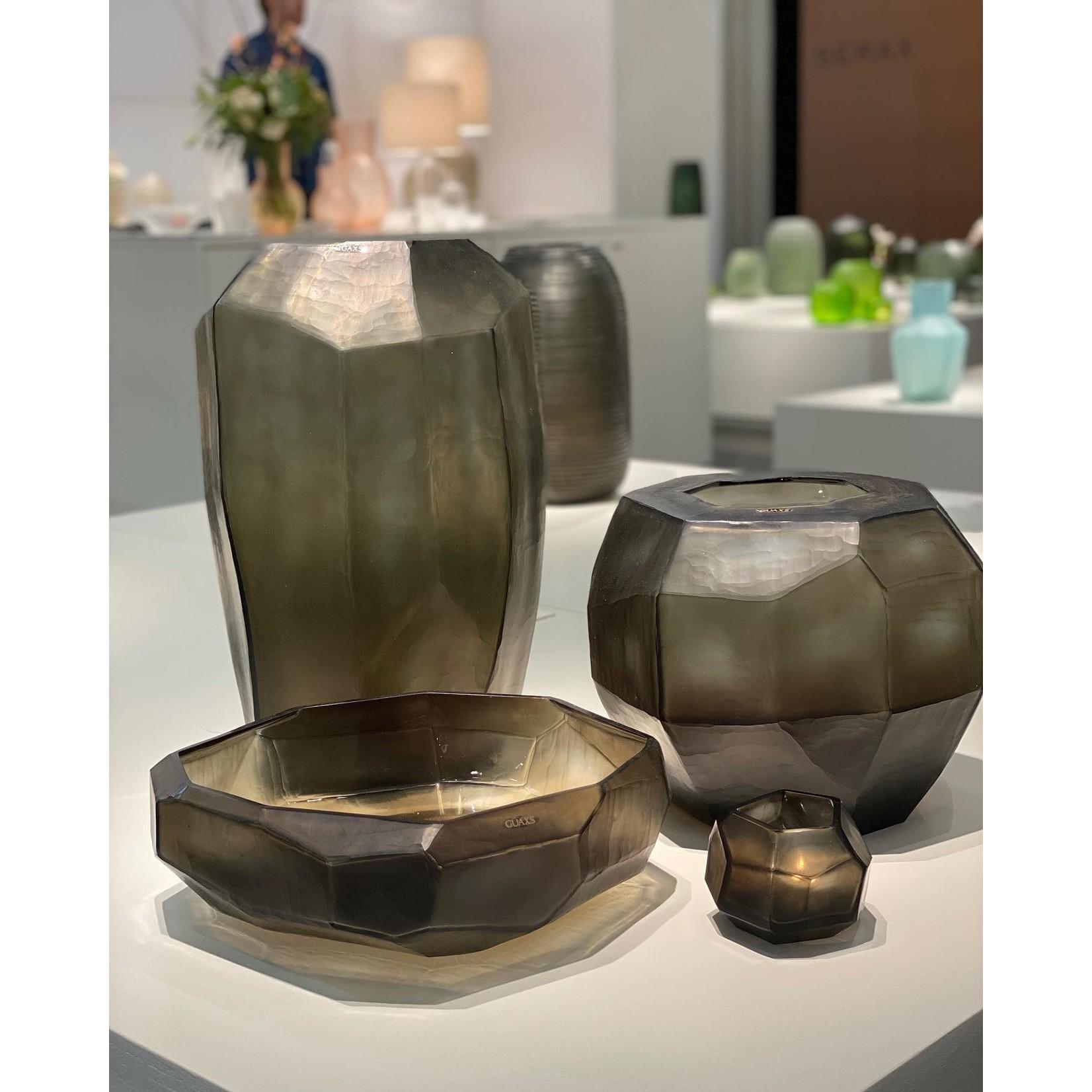 Guaxs Vase Cubiste Haut | Indigo / Gris Fumée