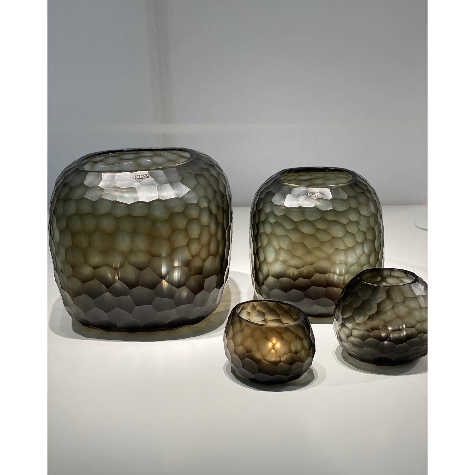 Guaxs Vase Somba L   Indigo / Smokegrey