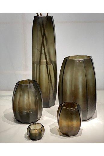 Guaxs Vase Koonam XL | Indigo / Gris fumé