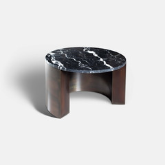 Rapture Miller Coffee Table 60 | Marquina Black Marble & Bronze Patina