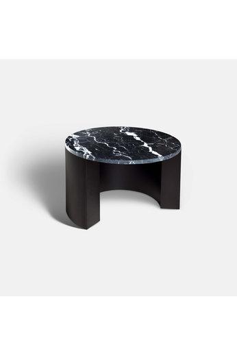 Rapture Miller Coffee Table 60 | Marquina Black Marble & Matt Black